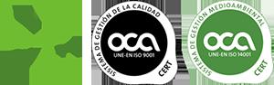 Certificados ISO 14001 y 9001 Acreditados por ENAC